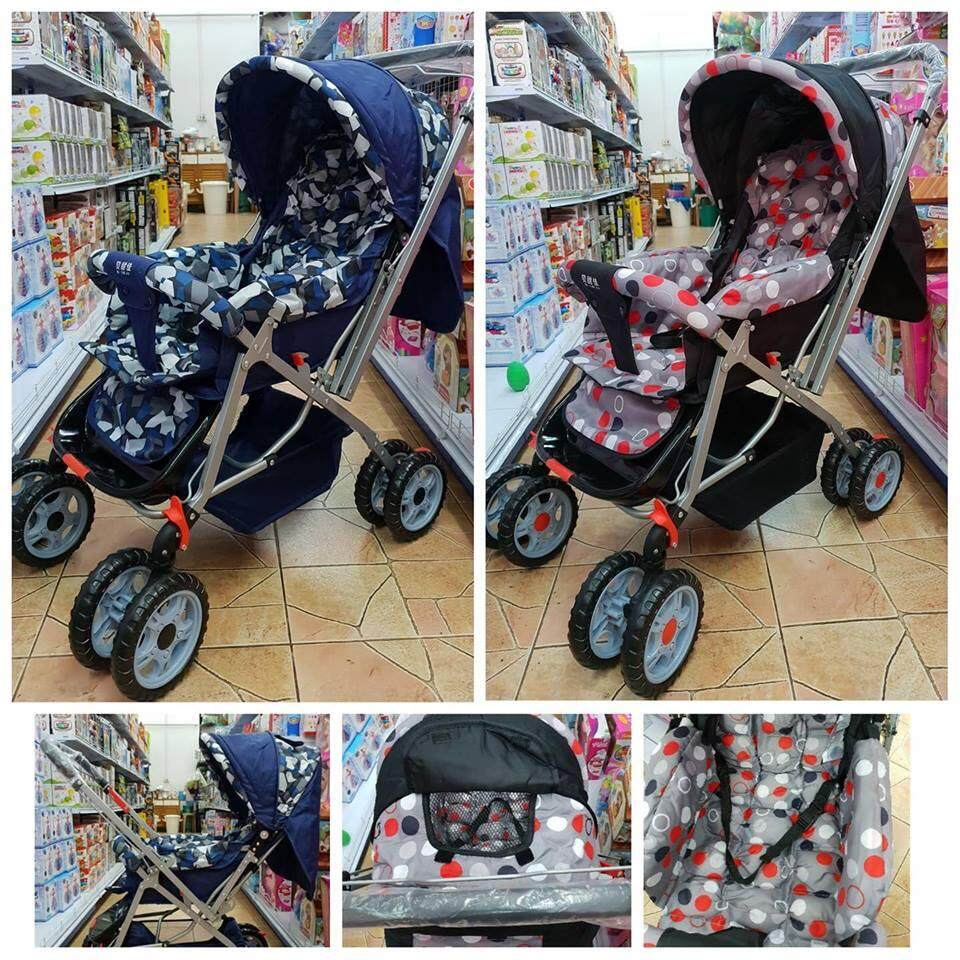 ลดส่งท้ายปี Hayashi รถเข็นเด็กแบบนอน Hayashi -  รถเข็นเด็กพับได้ Baby Stroller ลดราคาเกินครึ่ง