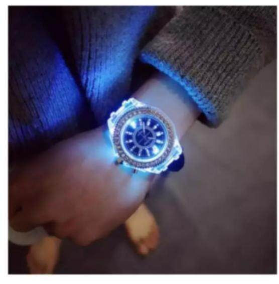 miss Fashion Women Luminous LED Watch Silicon Diamond Jelly Wristwatch