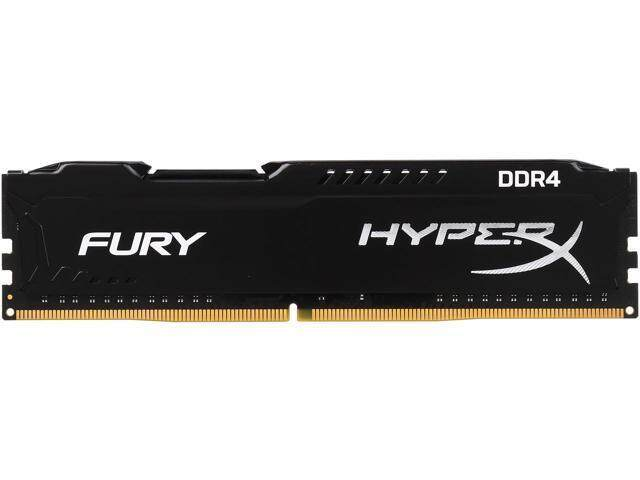 Kingston HyperX Fury DDR4 4GB/2400 (4GBx1) RAM PC Desktop (HX424C15FB/4) Black