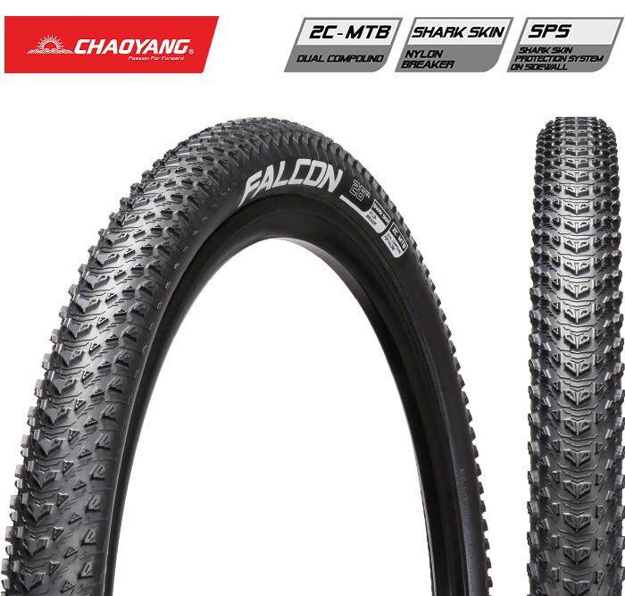 1x Chaoyang FALCON 27.5x1.95 SuperLight SharkSkin 60Tpi Foldable Tire MTB ยางนอกจักรยาน
