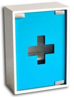 RELUX ตู้ยาขนาดเล็กแขวนได้ ไม้พ่นเคลือบสี ขอบมน *เหมาะสำหรับคอนโด* รุ่น MC-02