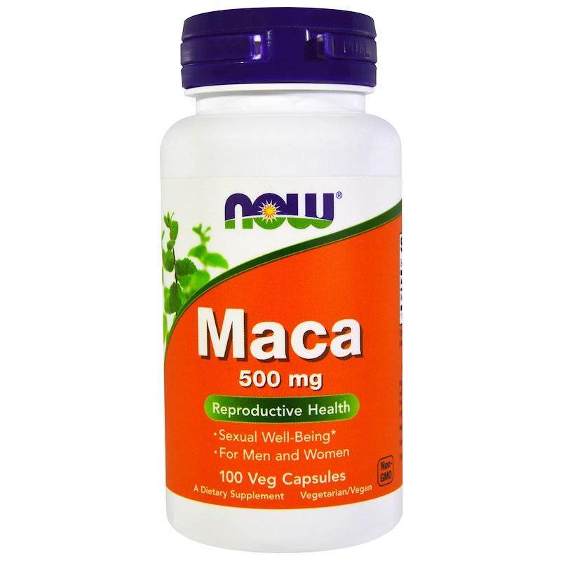 มาค่า ไวอาก้าธรรมชาติ Now Foods Maca 500 mg 100 Veg Capsules