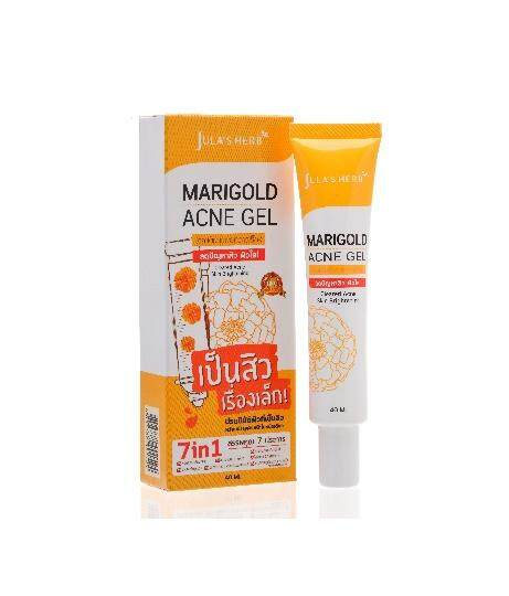 (1 ชิ้น) Jula herb Marigold Acne Gel จุฬาเฮิร์บ เจลแต้มสิวดอกดาวเรือง 40 ml