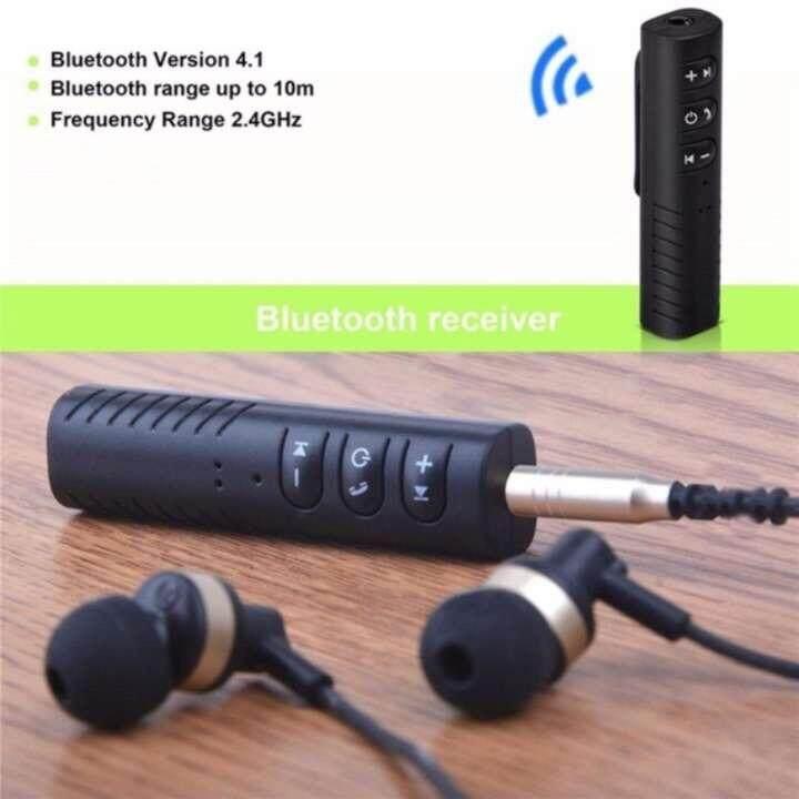 ใช้ดีจริง ลำโพงแบบพกพา gungunBabyshop ตัวรับสัญญาณบูลทูธ บลูทูธในรถยนต์ เปลี่ยนลำโพงธรรมดาเป็นลำโพงบูลทูธ Car Bluetooth AUX 3.5mm Jack Bluetooth Receiver Handsfree Call Bluetooth Adapter Car Transmitter Auto Music Receivers ถูกกว่านี้ไม่มีอีกแล้ว