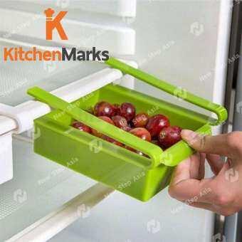 KitchenMarks ลิ้นชักเพิ่มที่เก็บของในตู้เย็น ช่องเก็บของ ถาดเก็บของ ช่องเก็บของในตู้เย็น ลิ้นชักเก็บ-