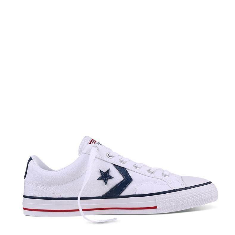 CONVERSE STAR PLAYER - OX - WHITE/WHITE/NAVY - 144151C