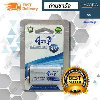 qoop ถ่านชาร์จ 9V 300 mAh HR9V NIMH Rechargeable Battery ISO9001:2000
