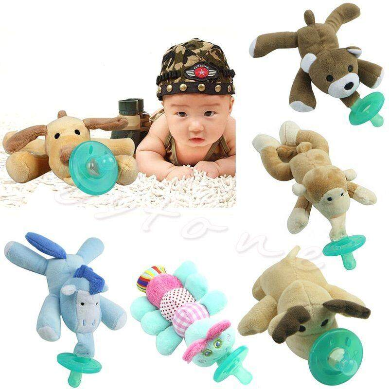 Newborn Baby Kids Giraffe Toy Dummy Nipple Soother Silicone Orthodontic Pacifier image