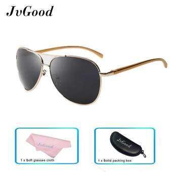 JvGood Polarized Sunglasses แว่นตากันแดดแบบคลาสสิก / แว่นตากันแดดผู้หญิง ผู้ชาย ะท้อนแสงแว่นตา