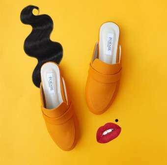 Poesiethailand - EVERLY suede slipper in Macaroon-
