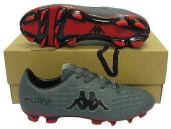 รองเท้าฟุตบอล รองเท้าสตั๊ด KAPPA GF-15H4 SYMBOLIGHT PURE FG.AG เทาดำ-