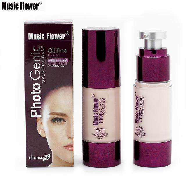 รองพื้นคุมมัน Music flower photogenic overtime foundation oil free spf 25 (30ml.)
