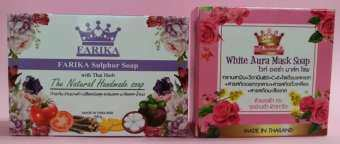 รีวิว FARIKA Sulphur Soap 1 ก้อน / White Aura Mask Soap 1 ก้อน (แพ็คคู่ )