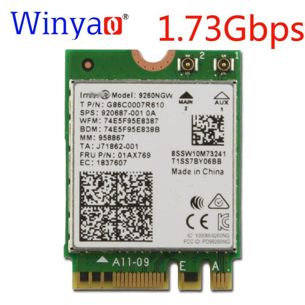 Winyao Wireless AC 9260NGW Dual Band 1.73Gbps Wifi Card For NGFF 2.4G/5Ghz 802.11ac Wifi Bluetooth 5.0 Network Card 920687-001(Note: If there is [] in the name, [] is the value of this product)