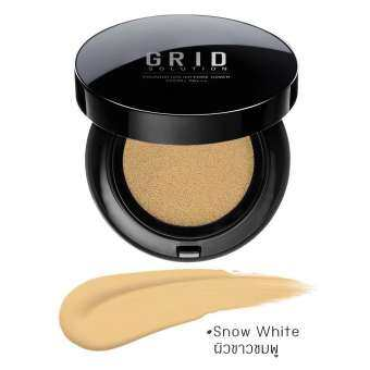 Grid Solution Foundation Intense Cover SPF50+ PA+++ 15g. #Snow White ผิวขาวอมชมพู คุชชั่นเนื้อรองพื้นสูตรเข้มข้น