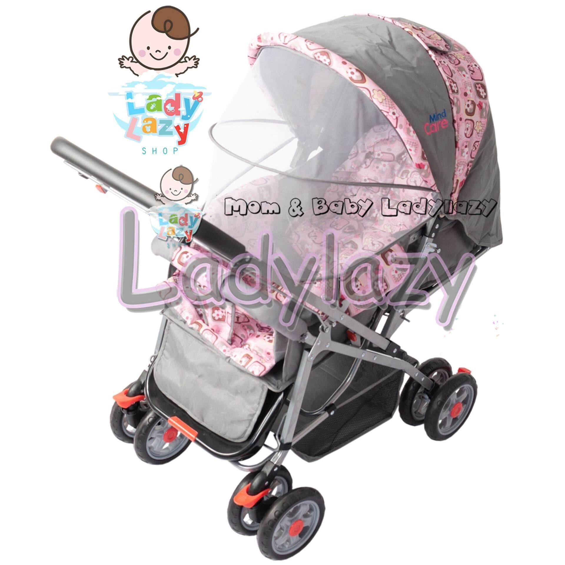 ลดล้างสต๊อกส่งท้ายปี Baby รถเข็นเด็กแบบนอน superbaby รถเข็นเด็กแบบใหม่รุ่นใหญ่ เข็นหน้า-หลังได้ ท่ออลูมิเนียม น้ำหนักเบา ปรับ 3 ระดับ (นั่ง/เอน/นอน) + ของเล่นเสียงดนตรี มีที่จับและที่วางของ เช็คราคาที่ดีที่สุด