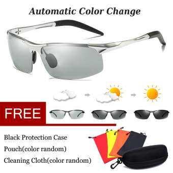อลูมิเนียมโพลาไรซ์ผู้ชายแว่นตาขับรถแว่นตากันแดดเปลี่ยนสีเลนส์กีฬากลางแจ้ง UV400 - นานาชาติ