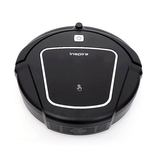 INSPIRE หุ่นยนต์ดูดฝุ่น TYPHOON D730 สีดำ robot vacuum cleaner หุ่นยนต์ดูดฝุ่น