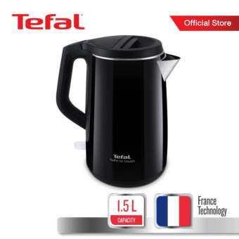 Tefal กาต้มน้ำไฟฟ้า กำลังไฟ 2400 วัตต์ ขนาดความจุ 1.5 ลิตร รุ่น Safe to touch KO370866 -Black-