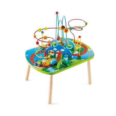 Hape ของเล่นไม้ โต๊ะรถไฟท่องพงไพร Jungle Adventure Railway Table