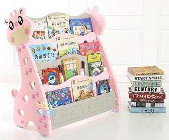 Kids castle NEW!! ชั้นวางหนังสือยีราฟน่ารัก 4 ชั้น แบบไม่มีกล่องเก็บของ-