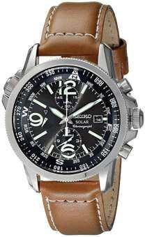 SEIKO Seiko Solar Military pilot chronograph SSC081 Overseas Limited model reverse imported goods