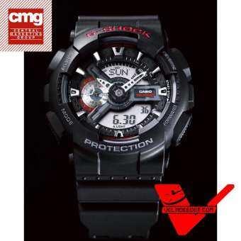Veladeedee.com Casio G-shock GA-110-1A (ประกันCMG) นาฬิกาข้อมือชาย สายเรซิ่น รุ่น GA-110-1ADR  (สีดำ-