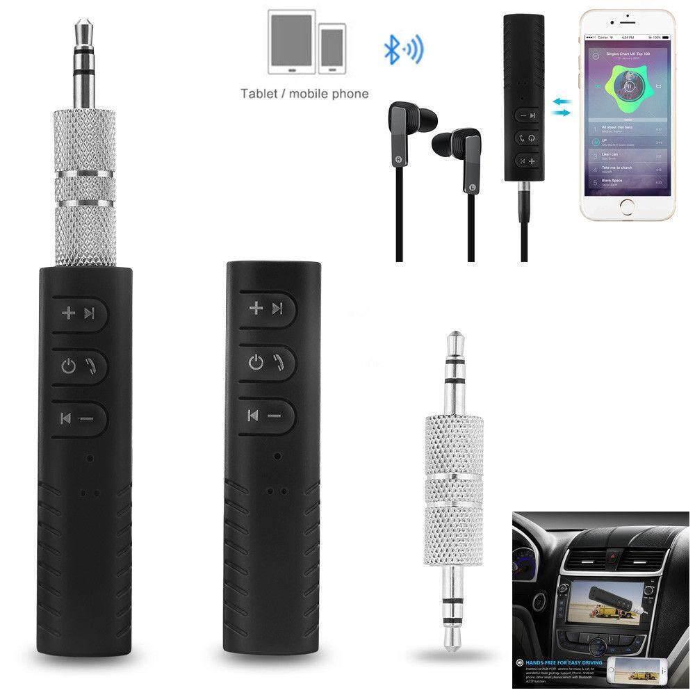 เช็คข้อมูล เครื่องเสียงและโฮมเธียร์เตอร์ Unbranded/generic ตัวรับสัญญาณบูลทูธ บลูทูธในรถยนต์ เปลี่ยนลำโพงธรรมดาเป็นลำโพงบูลทูธ Car Bluetooth AUX 3.5mm Jack Bluetooth Receiver Handsfree Call Bluetooth Adapter Car Transmitter Auto Music Receivers รับประกันการคือสินค้า