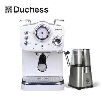 Duchess CM4200W#3 - เครื่องชงกาแฟสด CM4200W + เครื่องบดเมล็ดกาแฟ CG9100S ** ฟรี !!ก้านชง+ฟิลเตอร์ขนาด1และ2ช็อต+ช้อนตักกาแฟ** รับประกัน 1ปี