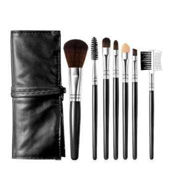 miss fashion 7 makeup brush straps set brush biack