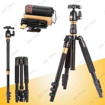 QZSD Q555 Professional Camera DV Tripod Ball Head Universal for Nikon , Canon, Sony Monopod DSLR ขาตั้งกล้อง ทำเป็นขาเดี่ยวได้-