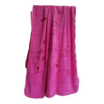 FD Premium ผ้าเช็ดตัว ผ้าขนหนูนาโน ผ้านาโน (NANO Towel) ขนาด 100x160 CM. สีหวาน รุ่น TW0034 ลายการ์ตูน (สี ชมพู)