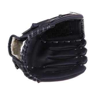 MIRACLE Shining ทีมกีฬาซ้ายมือสวมใส่เบสบอลเยาวชน Teeball ถุงมือสีดำ L/M-