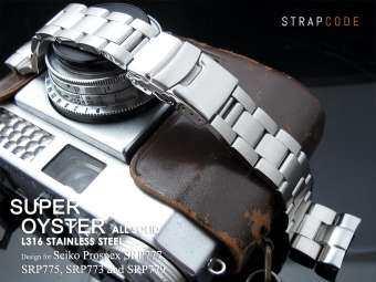 สายนาฬิกา OVERWRIST MILTAT STRAPCODE SUPER OYSTER FOR SEIKO TURTLE SRP 773,775,777,779, 787,789