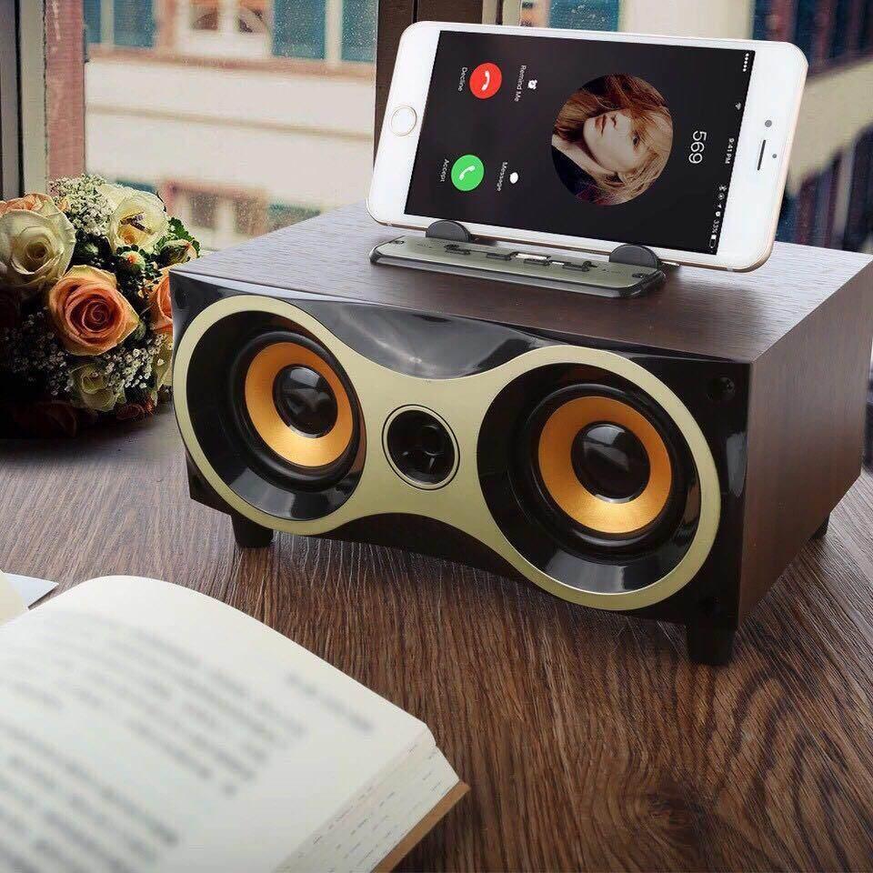 คูปอง ลำโพงแบบพกพา unbranded/generie G U N ลำโพงบลูทูธ Wireless Speaker Series XM-6ลายไม้ ถูกที่สุด