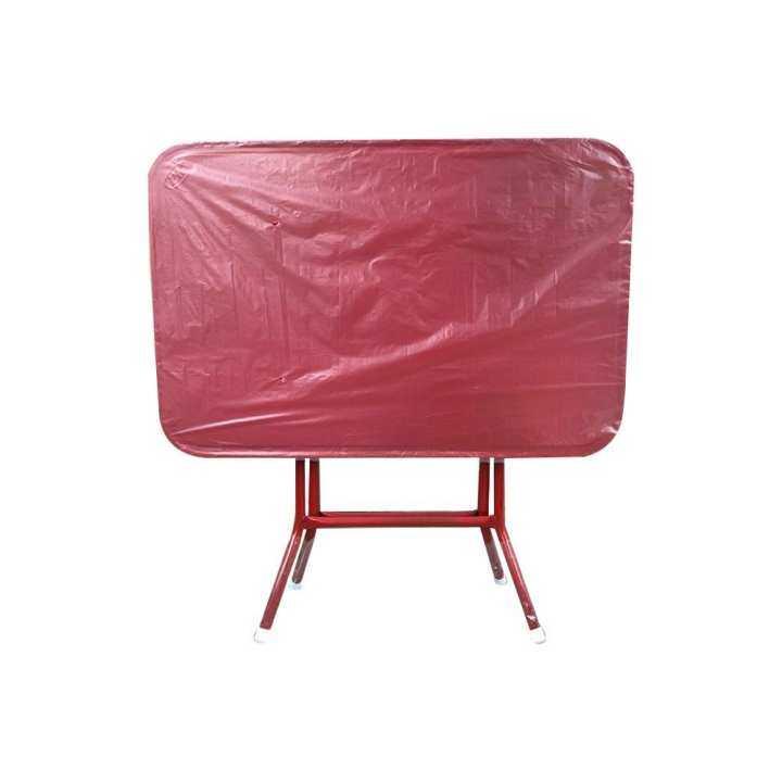 โต๊ะพับหน้าเหล็ก3ฟุต T24 (สีแดง)
