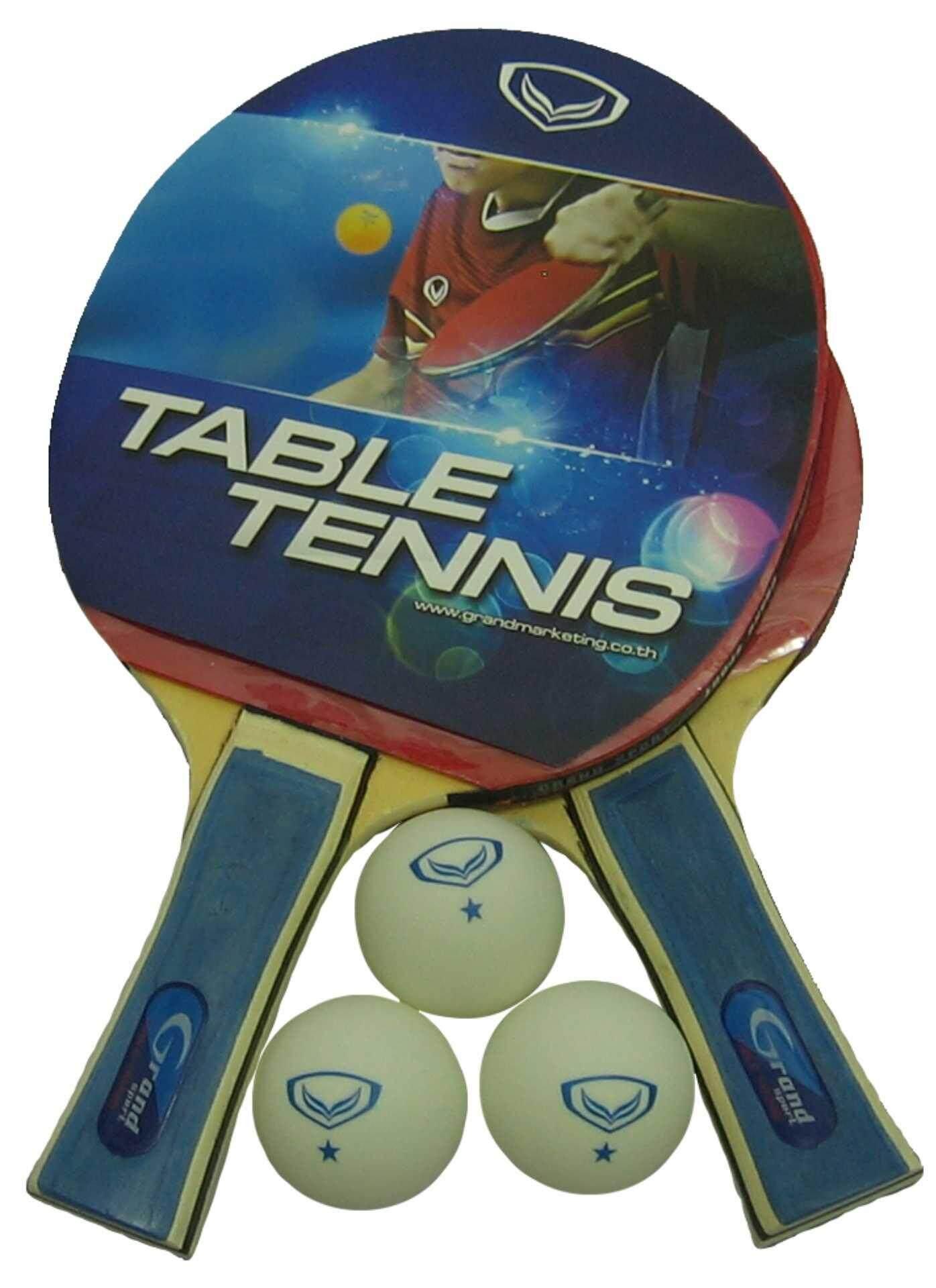 ไม้ปิงปอง ไม้เทเบิลเทนนิส (แบบคู่+ลูก) Grand Sport 378238 TWIN PRO II
