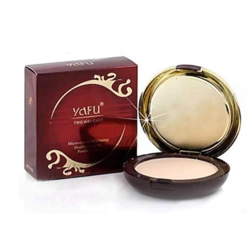 YAFU powder 30g. No.3 แป้งพัฟ YAFU แป้ง2ชั้น แป้งพัฟผสมโสมชั่นดี+ไวท์เทนนิ่ง เอสเซนต์ (สำหรับผิวขาว-เหลือง) จำนวน 1 ชิ้น