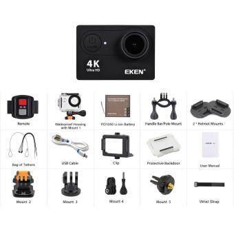 EKEN H9R 4K ของแท้ปี2018 LOGO ต้องสีขาว พร้อมรีโมท กล้องแอ็คชั่น  แอ็คชั่นเเคม ACTİON CAMERA กล้องติดหมวก