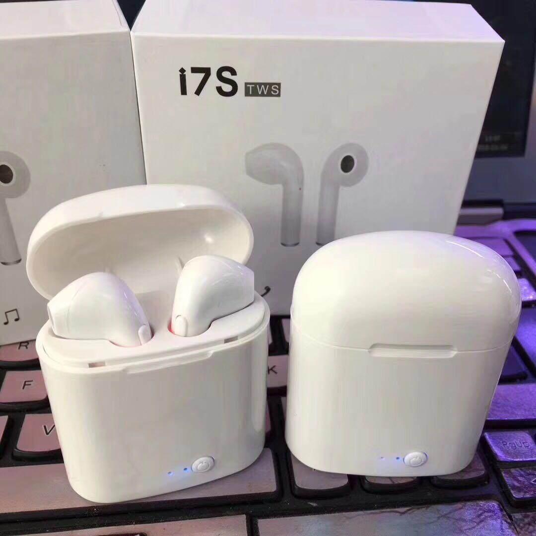 ขายดีอันดับ 1 หูฟัง Bluetooth ส่งเร็ว หูฟังBluetooth i7 TWS Earbuds Wireless Headphones Headsets รุ่นสองหูซ้ายขวา หูฟังไร้สาย Bluetooth V4.2 + DER ดีจริง ๆ