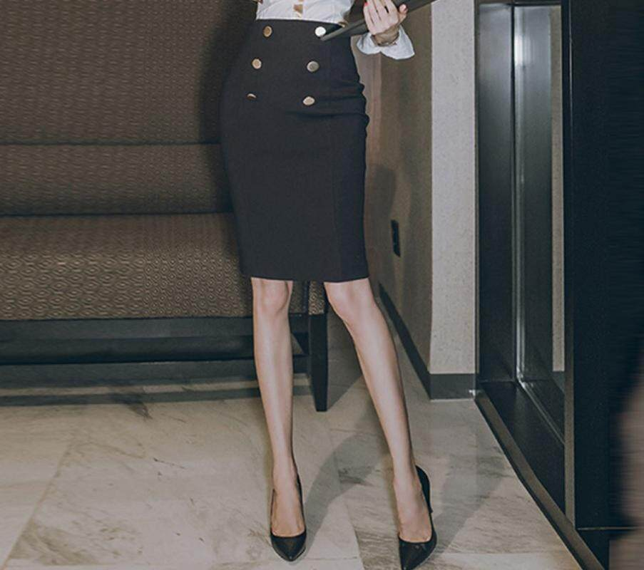 ZASHION กระโปรงแฟชั่น Slim Fit Classic Women Pencil Skirt Formal Skirt