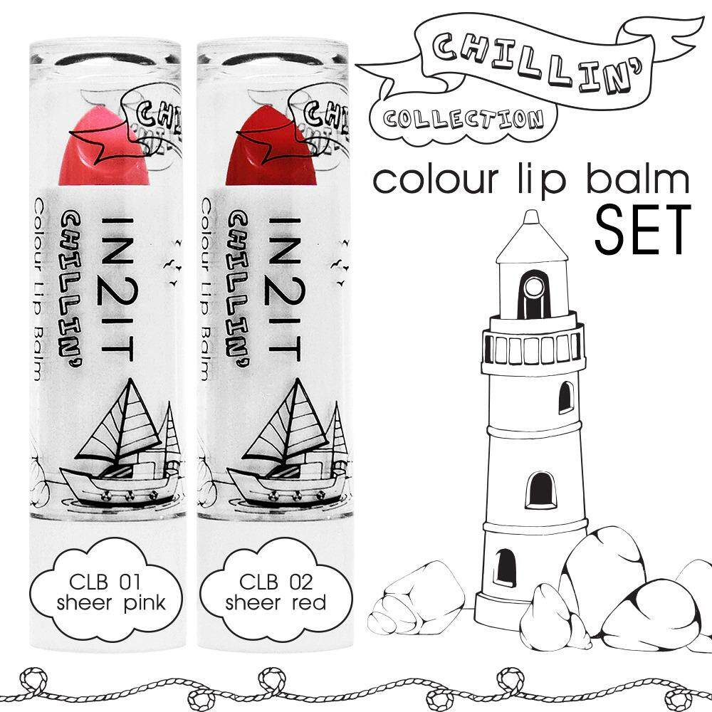 IN2IT Chillin Colour Lip Balm CLB01+02