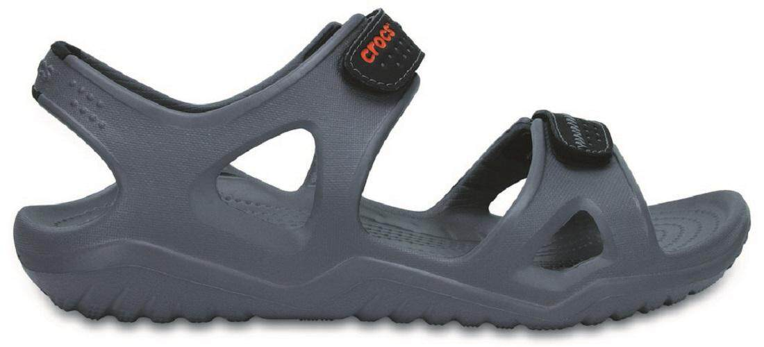 CROCS SWIFTWATER RIVER SANDAL M-CHARCOAL/BLACK/MEN