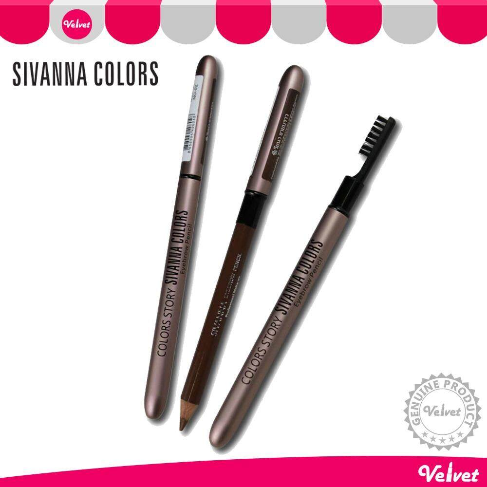 Sivanna Colors Story Waterproof Silky Eyebrow Pencil ดินสอเขียนคิ้ว ที่เขียนคิ้ว SE004 (velvetcosme)