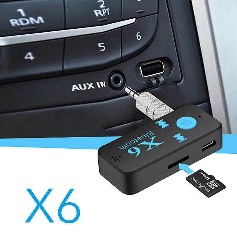 ขายดีอันดับ 1 เครื่องเสียงและโฮมเธียร์เตอร์ Unbranded/generic X6 Bluetooth 3.5mm Audio Receiver Car MP3 Player Read TF Card aux Connection Play Car Bluetooth Speaker Handsfree Bluetooth Audio Receiver Audio Bluetooth Adapter ร้านที่เชื่อถือมากที่สุด