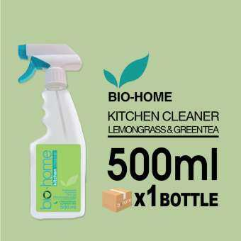 Bio-Home Kitchen Cleaner (Lemongrass & Green Tea) ไบโอโฮม ผลิตภัณฑ์ทำความสะอาดห้องครัว กลิ่นตะไคร้ผสมชาเขียว 500 มิลลิลิตร x 1 ขวด-