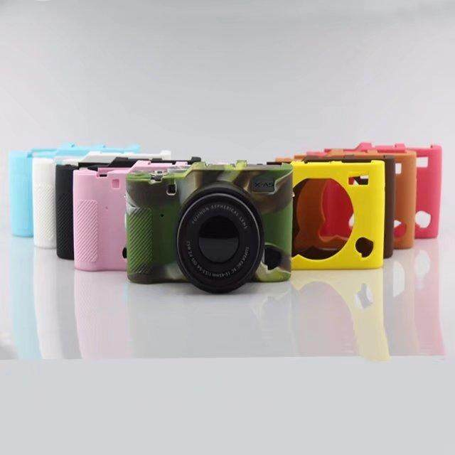 Body Cover Case Skin for X-A5 XA5 Soft Rubber Silicone Camera Bag for XA5 X-A5 S0558 COLOR
