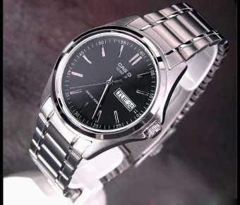 CASIO  นาฬิกา สำหรับคุณผู้ชาย สายแสตนเลส รุ่น MTP-1239D-1A (สินค้าขายดี) มั่นใจ สินค้าของแท้ 100% รับประกันสินค้า 1 ปีเต็ม (ส่งฟรี)-