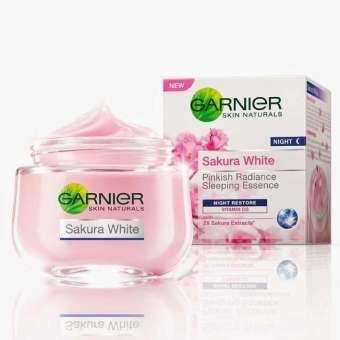 แนะนำ GARNIER Sakura White Pinkish Radiance & Poreless Night Cream การ์นิเย่ ซากุระ ไวท์ พิงคิช เรเดียนซ์ ไนท์ครีม 50ml.