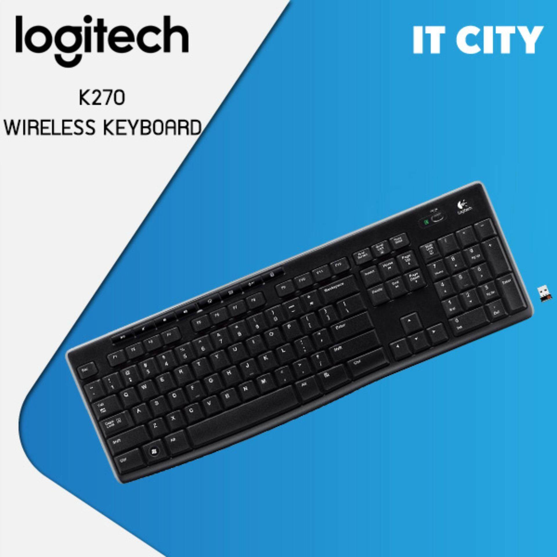 Logitech Wireless keyboard K270 (Black)